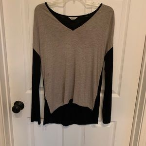 Made well Long Sleeve Top Black and Gray